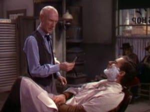 Dodge City 1939 Errol Flynn and the Barber