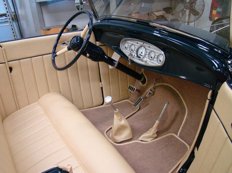 1932 Ford Roadster Interior Trim Work