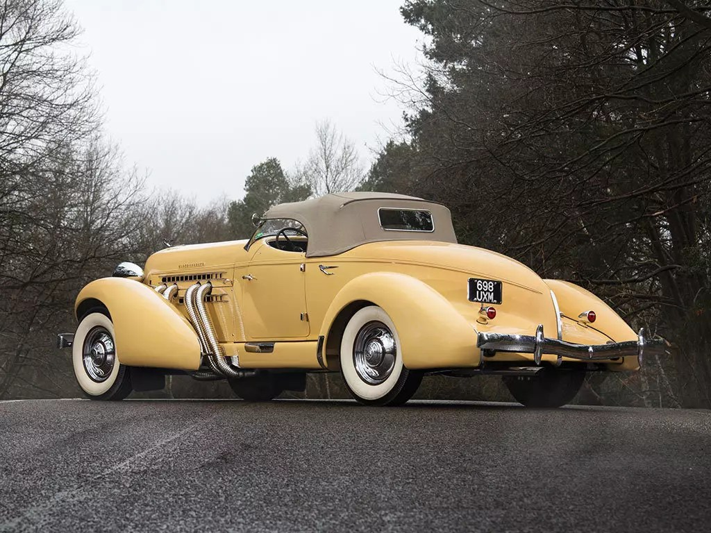 Sunliner Gatsby Style 1935 Auburn Eight Supercharged Speedster Is