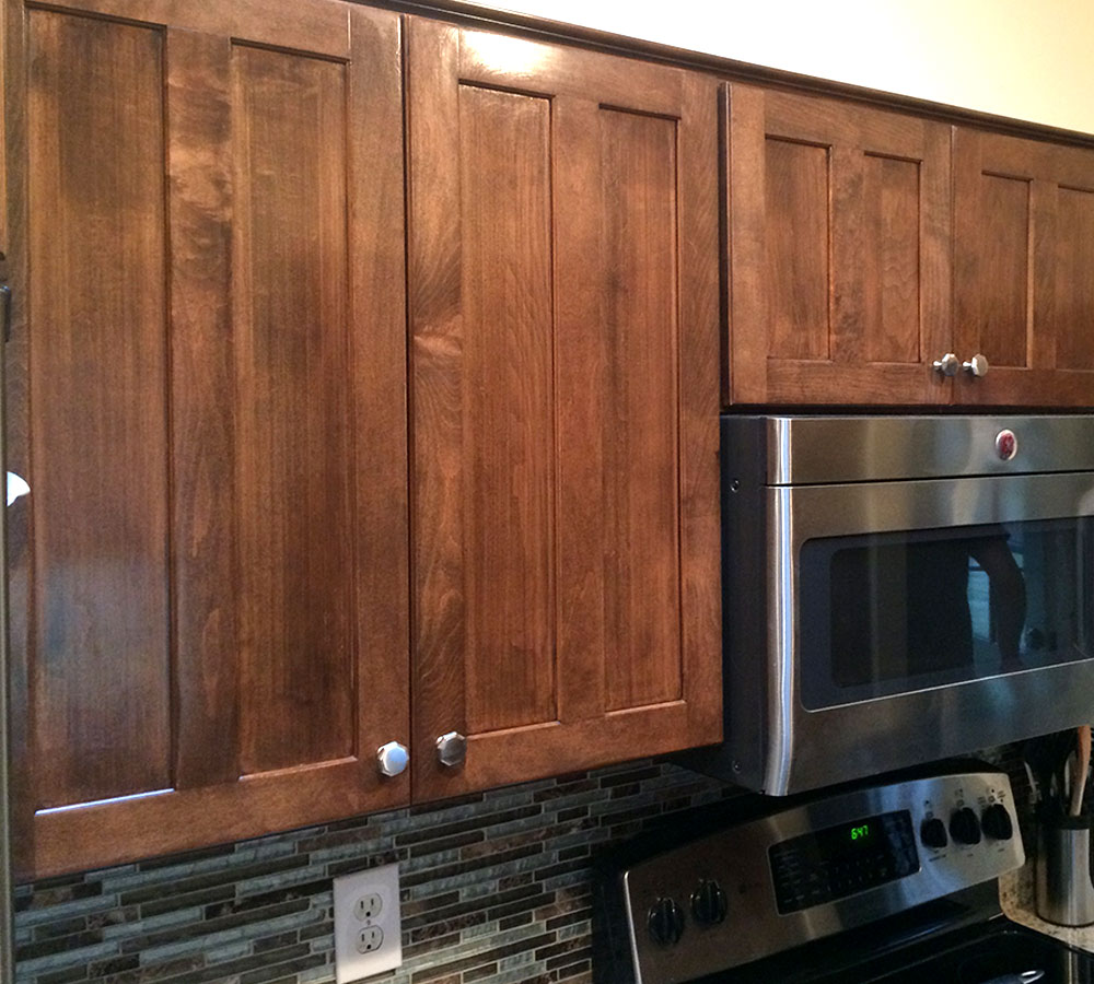 Maple Cabinets Stained Walnut Project Gallery