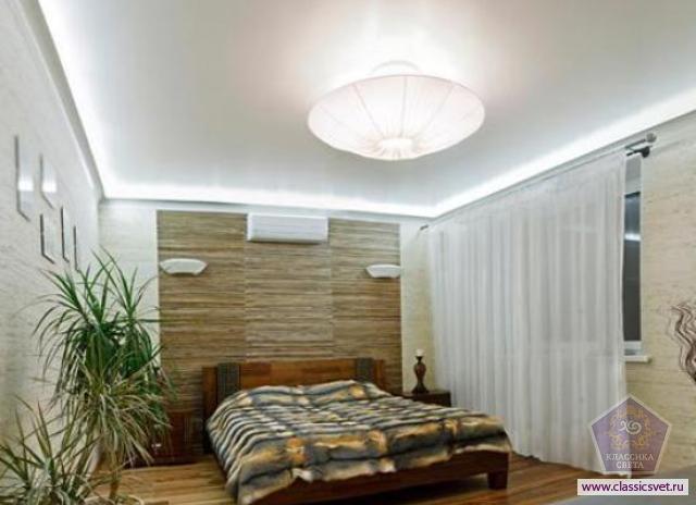 Варианты освещения низкого потолка гостиной и спальной комнаты 02