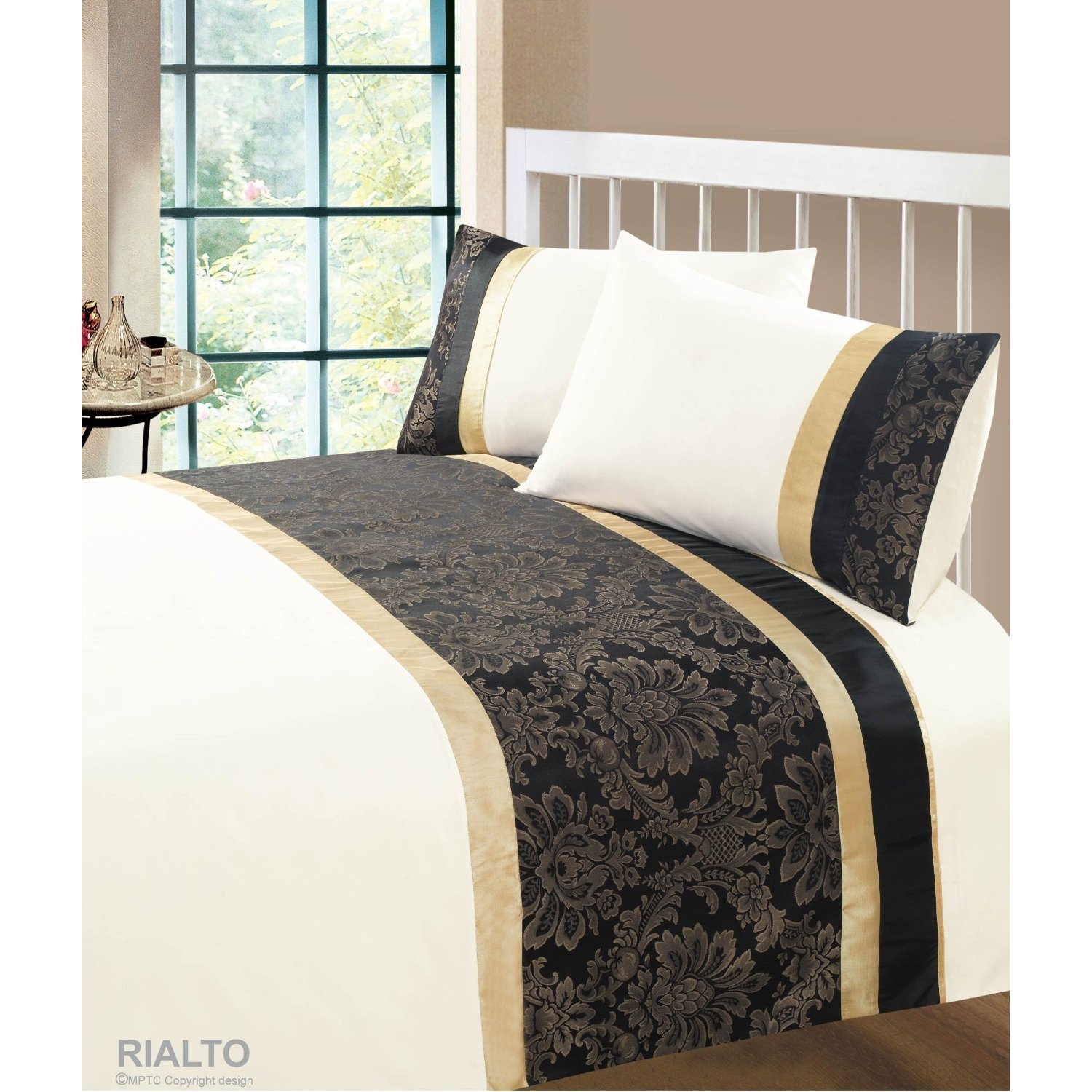 Black And Cream Duvet Sets Rialto Duvet Cover Set From Century Textiles