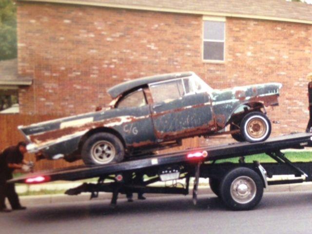 Classic Car Wallpaper 57 Chevy 1957 Chevy Two Door Bel Air Hardtop Old School Gasser With