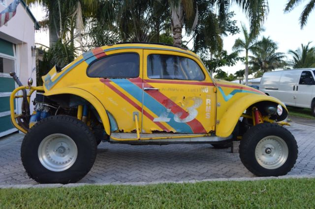 Travel Buggy With Sunroof Yellow Volkswagen Competition Baja Bug Dune Buggy