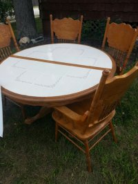 Oak Kitchen Table with Ceramic Tile Top | New Jersey ...