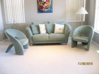 living room - contemporay furniture Loveseat, two side ...