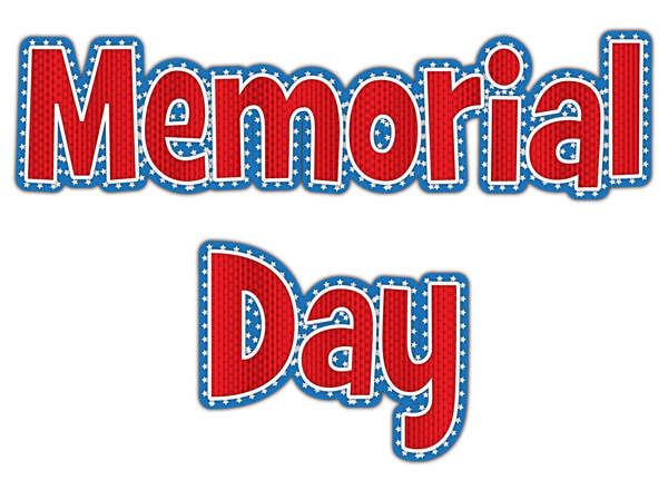 Memorial Day Clipart- memorial-day-word-clipart-3 - Classroom Clipart