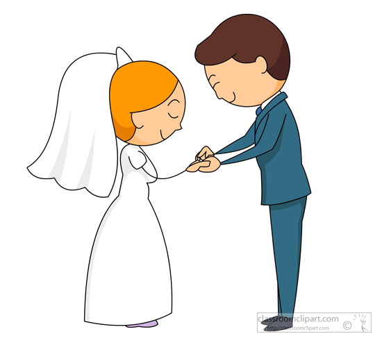 Cute Marriage Couple Wallpaper Special Occasions Clipart Bride Groom Taking Vows Clipart