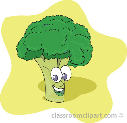 Vegetables Brocholli Cartoon Vegetable Classroom Clipart
