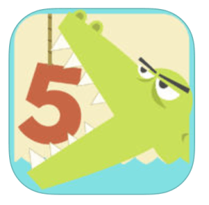 Greater Gator Comparing Numbers App for iPad