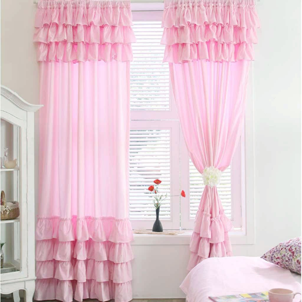 Ruffle Curtain Panel 7 Tiered Ruffle Curtain Panel