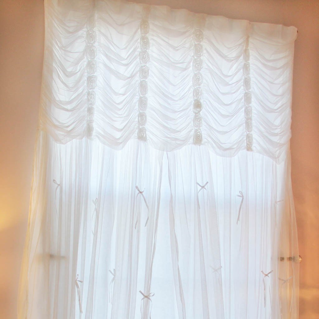 Ruffle Curtain Panel White Ruching Ruffle Curtain Panel