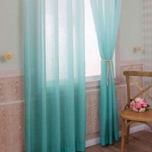 What Color Is Teal Ombre Gradient Sheer Curtain