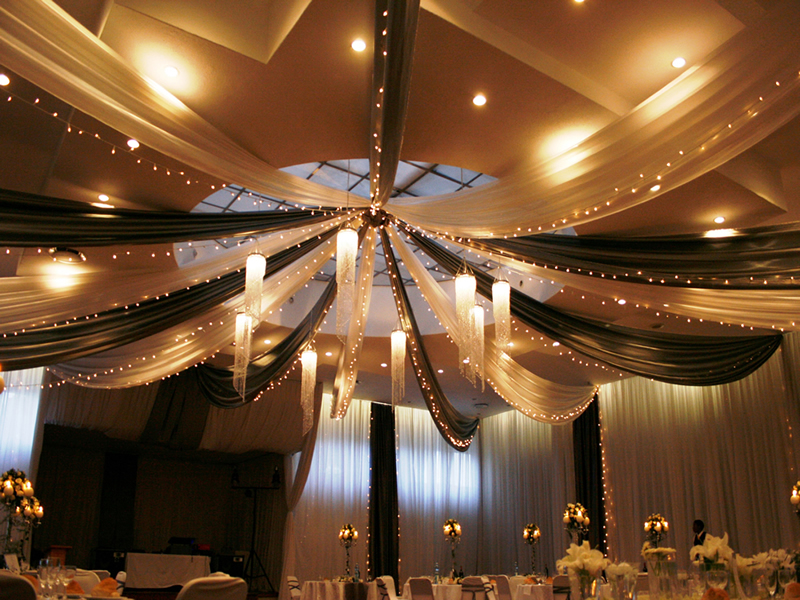 Japanese Themed Decor Draping And Fairy Lights @ Classy Candle Hire