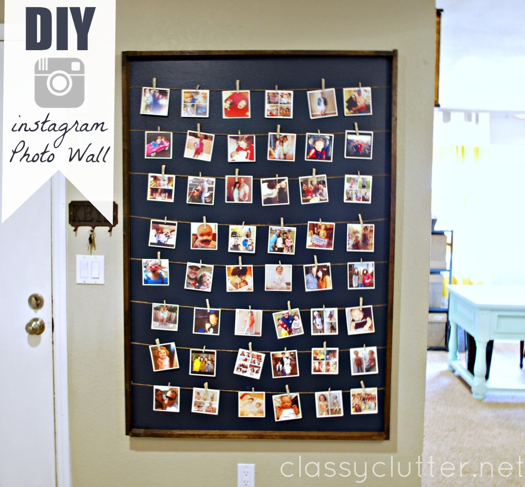 Pictures On The Wall Diy Instagram Photo Wall Display