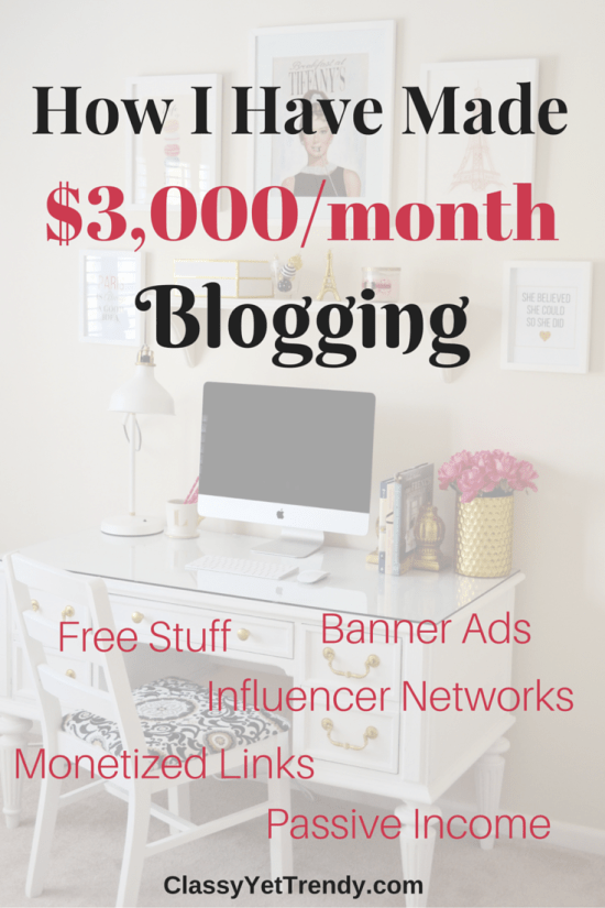 How I Have Made $3,000 From My Blog
