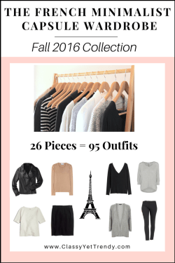 The French Minimalist Capsule Wardrobe Fall 2016 cover