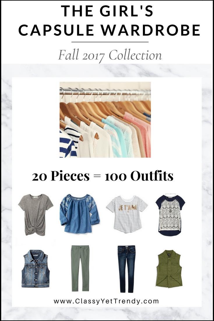 Create A Girl39s Back To School Capsule Wardrobe 10 Fall