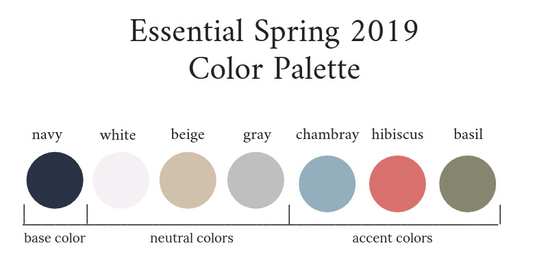 Color Coordination Chart The Essential Capsule Wardrobe: Spring 2019 Collection