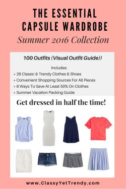 The Essential Capsule Wardrobe E-Book: Summer 2016 Collection