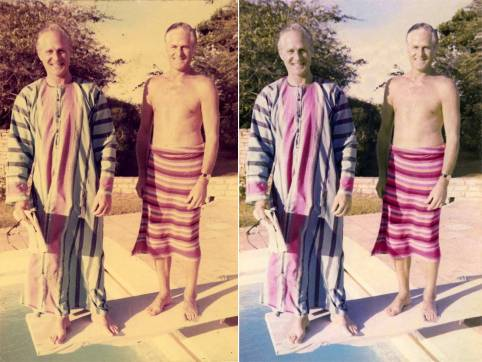 Photo restoration, retouching and recolouring