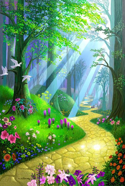 Free Animated Wallpaper Backgrounds Paysage Fleurit