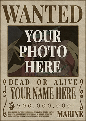 One Piece Wanted Poster Template Clay Stage