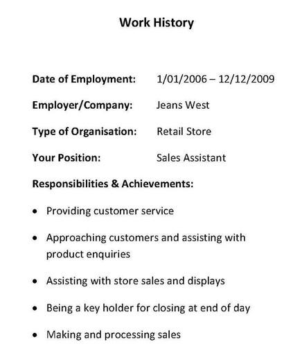resume work history order - Selomdigitalsite