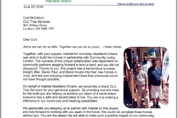 HFH letter