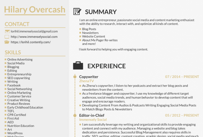 fiverr resume