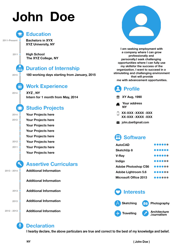 attractive resume templates online