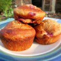 Acorn Squash Blackberry/Raspberry Oat Muffins