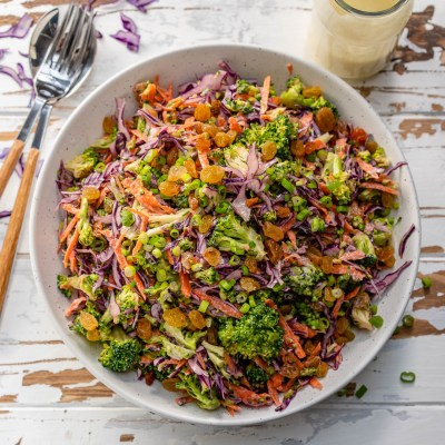 Delicious Raw Broccoli Slaw to Eat Clean! | Clean Food Crush