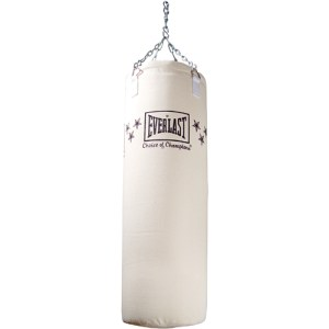 This heavy bag weighs 100 pounds.