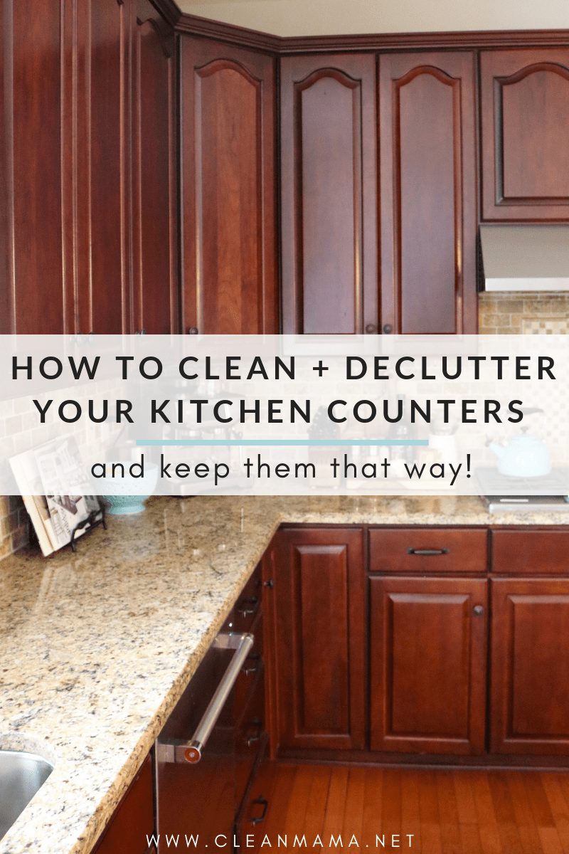 Kitchen Counter And Stools How To Clean Declutter Your Kitchen Counters And Keep Them That