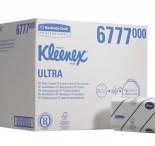 Kleenex Ultra, ორი ფენა. ფურცლის ზომა 31,5 х 21,5 სმ. 30 ცალი х 124 ფურცელი