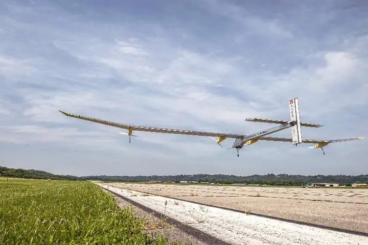 solar impulse take off Cincinnati flat