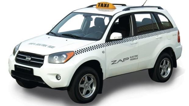 Zap Electric Taxi SUV.  Image Credit: Zap Jonway