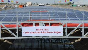 Gujarat canal-top solar power plant