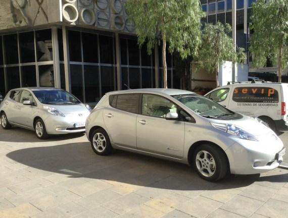 Nissan Leafs Barcelona Spain