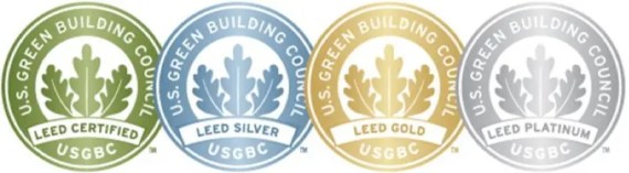 LEED certification plaques