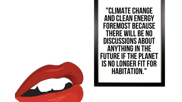"""Climate change is on everyone's lips"" (photo:CleanTechnica/Sandy Dechert)"