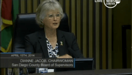 San Diego County Chairwoman Dianne Jacob - Courtesty County News Service
