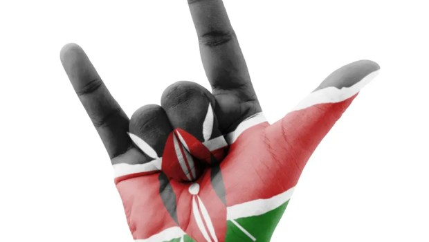 kenya hand flag