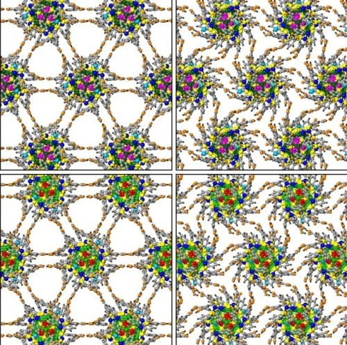 nanoscale gears rotate in a superlattice