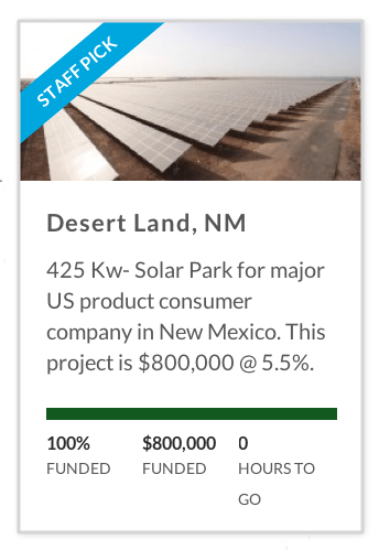 425 Kw NM solar park funded by CrowdSun.com