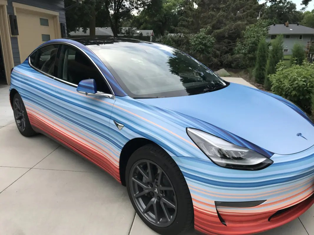 Blue Model 10 Awesome Tesla Model 3 Paint Wrap Jobs Cleantechnica