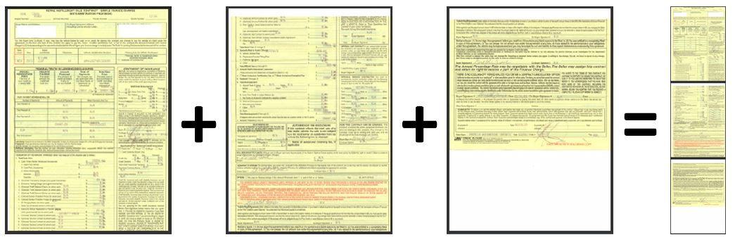 How do I scan my long purchase/lease agreement? Clean Vehicle
