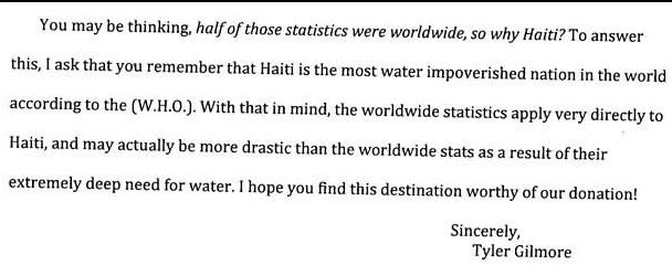 Encouraging Letter u2013 Clean Water for Haiti u2013 The Blog - encouragement letter template