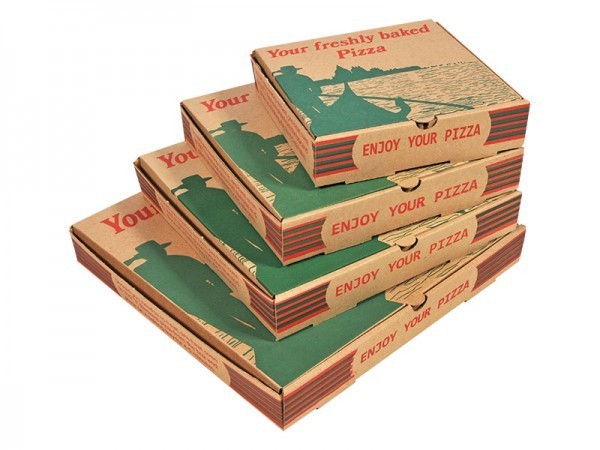 Gondola Design Corrugated Pizza Box 10 x 10 x 15\u2033 - Cleanwipes Ltd